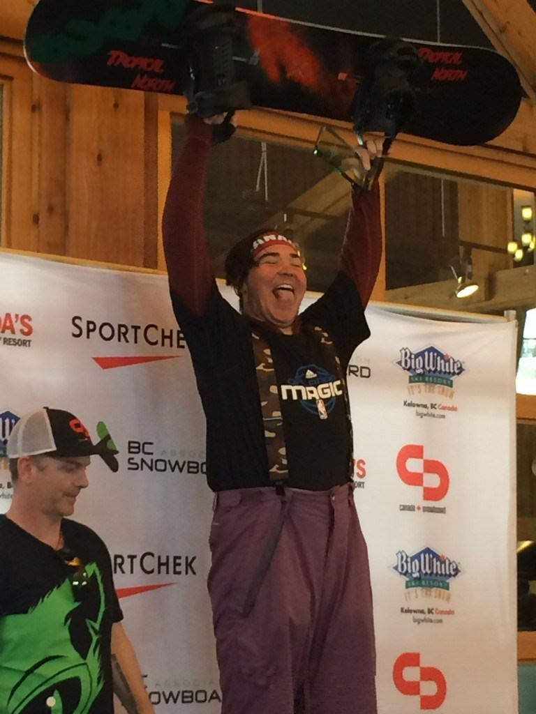 Winning first place – in the Canadian National Para Snowboard Championship.