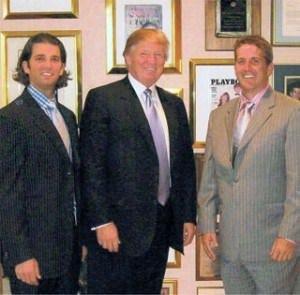 Mark Consiglio (right) with Donald Trump